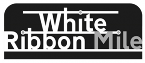 Logo White Ribbon Mile